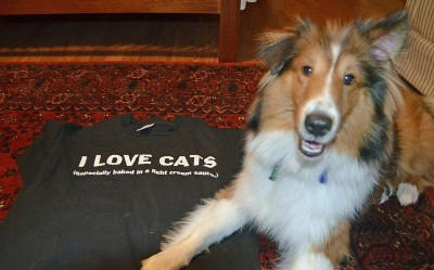 sheltie-cat-tshirt